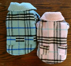 Zack & Zoey Plaid Cuddle Coat Jacket for Dogs or Cats with Feecy Type Lining