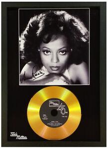 DIANA ROSS SIGNED PHOTOGRAPH GOLD CD DISC Tamla Motown COLLECTABLE MEMORABILIA