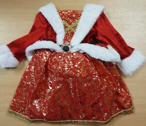 Children's Mrs Christmas Fancy Dress Costume with Santa Hat Aged 0-3 Months
