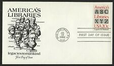 #2015 20c America's Libraries, Artmaster FDC **ANY 4=FREE SHIPPING**
