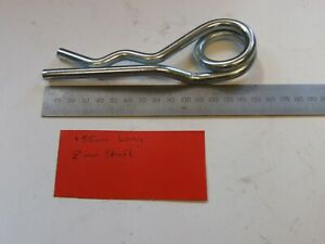 R Clip 8mm Retaining Pins Double Coil UK