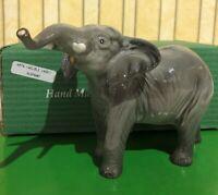 BESWICK  ELEPHANT TRUNK STRETCHING SMALL GREY GLOSS FINISH  No 974 BOXED PERFECT