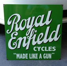 ROYAL ENFIELD CYCLES ENAMEL SIGN (MADE TO ORDER) #76