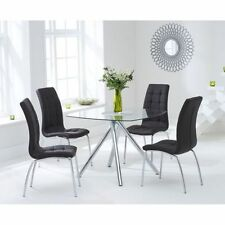 Square Contemporary Glass Table & Chair Sets