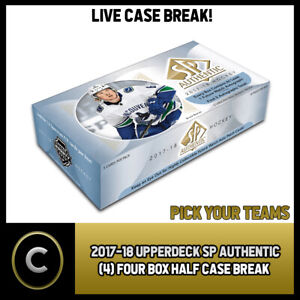 2017-18 UPPER DECK SP AUTHENTIC 4 BOX (HALF CASE) BREAK #H1130 - PICK YOUR TEAM