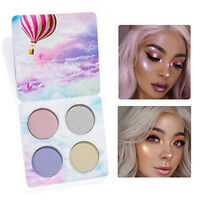 New Eyeshadow Palette 4 Colours Highlight Eyeshadow Waterproof Long Lasting Eye