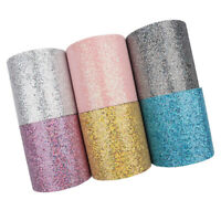 "2yard 3"" 75mm Sequins Mesh Grid Glitter Ribbon DIY Hair Bows Crafts Accessories"