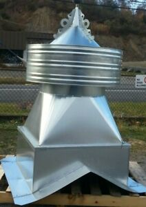 Large galvanized barn cupola,NO weathervane included,add from our store