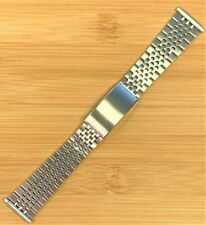 Stelux Stainless Steel Watch Bracelet 7405 18mm-22mm lug width 168mm long NOS