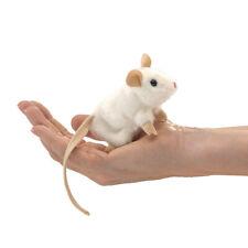 New Folkmanis Mini White Mouse Finger Puppets