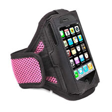 IPhone 4 4S Rose Housse Etui brassard solide pour les Sports Gym Course Jogging Vélo