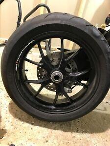 Ducati Front Rear Wheel Rim Tire 180/60/17 Pirelli Diablo Rosso 848 796 1098 sf