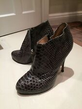 GIUSEPPE ZANOTTI Leather Ankle Boots, EU 37.5/38, Good Condition
