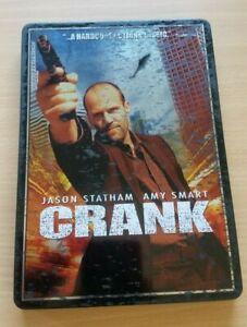 CRANK (DVD, 2006) Jason Statham, Amy Smart VERY RARE STEELBOOK/ AUS R4