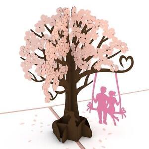 Love Pop Lovers on a Swing Pink 3D card