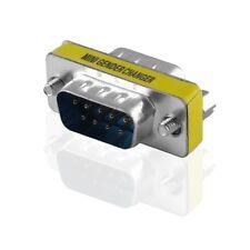 D-SUB 9 polig Stecker Nullmodem männlich Adapter Verbindung Verbindungsstück