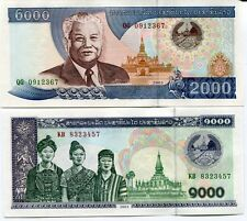 LAOS SET 2 PCS 1000 2000 KIP 2003 P 32 33 UNC