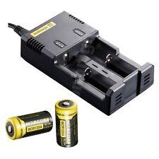 NEW NITECORE i2 Intellicharge Charger w/ Two RCR123A  Batteries NL166 AA [i4]