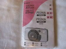 Canon Prima Super 105 35mm Film Camera Instruction Book E F G S I P  C2-24