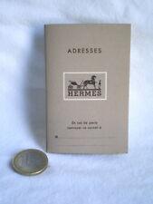 PETIT CARNET D'ADRESSE CALENDRIER REPERTOIRE HERMES 1952