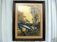 "Print Of Watercolor By Bruce Lattig ""Pheasant Jumping"""