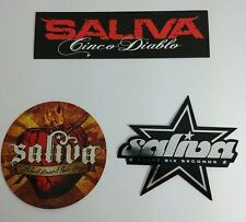 3 PC LOT SALIVA MIRRORED STAR DIABLO EVERY GROUP MUSIC BAND STICKERS (3 PIECES )