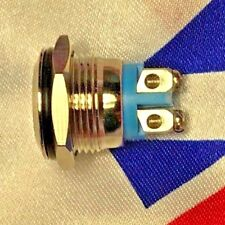 ⭐⭐ 16mm Anti-Vandal Momentary Metal Stainless Steel Push Button Switch Flat ⭐⭐UK