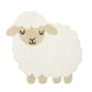 Sass & Belle Baa Baa Lamb Farm Animal Rug Kids Bedroom Nursery Carpet Nursery