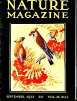 Nature Magazine September 1933 VG No ML 020917jhe