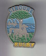 RARE PINS PIN'S .. SPORT RUGBY CLUB BLASON CHEVAL PAYS BASQUE CIBOURE 64 ~C4