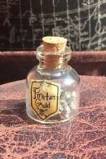 Genuine PIRATES FOOLS GOLD Miniature Glass Bottle Kids Party Favour Gift!