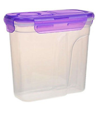 Cereal Keeper Dry Food Storage Dispenser Dishwasher Safe Lock Lids Container NEW