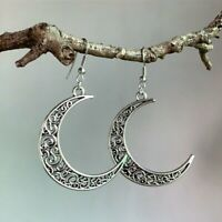 Jewelry Hollow Out Moon A Pair/set Drop Earrings Fashion 925 Silver for Women