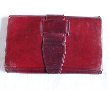 Portefeuille en maroquin rouge, époque Empire début XIXe