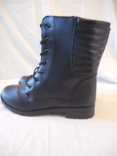 Women's Rue 21 Ribbed Back Front Lace Boots Size X-Large 10 Black  NEW