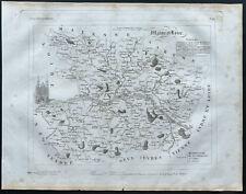 Maine et Loire - 1830 - Carte du département - Atlas Michel, Lorrain - Gravure