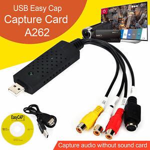 USB 2.0 VHS Cinta A PC DVD Convertidor Vídeo Y Audio Captura Tarjeta Adaptador