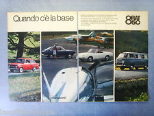 QUATTROR965-PUBBLICITA'/ADVERTISING-1965-FIAT 850 BERLINA/COUPE'/SPIDER -2 fogli