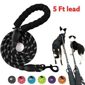 BNTW Dog Leash Rope Braided Pet Leads Strong Soft for Medium Large Dogs Walk5FT