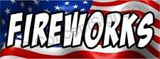 3'x8' FIREWORKS BANNER LARGE Outdoor Sign Stand Sale July 4th Firework Store