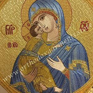 Theotokos Epigonation Palitza  Mother of God Embroidered  TO ORDER