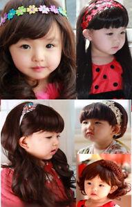 Super Cute Children Kid Full Wigs Cosplay Costume Sweet Wavy Straight Curly Hair