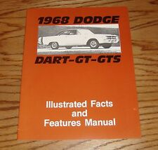 1968 Dodge Dart - GT - GTS Illustrated Facts Features Manual 68