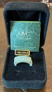 JADE RING 14k GOLD QVC