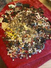 8 lbs!!!HUGE LOT OF VICTORIAN and VINTAGE BUTTONS