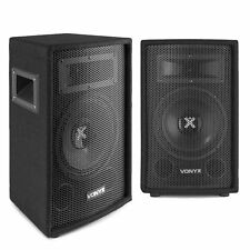 "2x Vonyx 8"" Inch Passive PA Speakers Disco DJ Sound Package 800W"