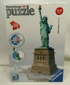 Ravensburger 3D Puzzle 108 Pieces Statue Of Liberty NEW YORK NEW -P40
