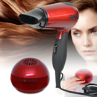 SET OF PROFESSIONAL RED HAIR DRYER 1200W AND NAIL DRYER HEAT BLOW POLISH REMOVER