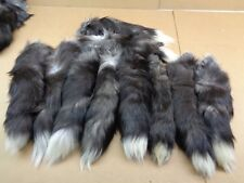 1 3XL Tanned Silver Fox Tail/Crafts/100% USA Real Fur/Purse/Oakland Raider Tail