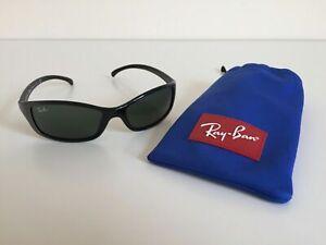 RAY BAN Junior Sonnenbrille mit Schutzbeutel Dunkelgrau Metallic Top Zustand
